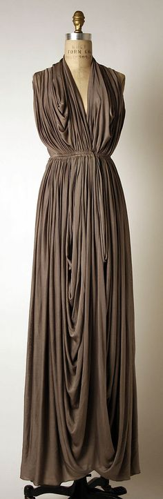 Evening dress Madame Grès (Alix Barton) (French, Paris 1903–1993 Var region) Date: 1937–39 Culture: French Medium: silk