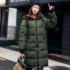 2017 New Long Women Winter Jacket Women Fashion Padded Coat Hooded Overcoat Women Parka Wadded Casaco Feminino Military Jacket ~ Shop 4 Xmas n Locate this beautiful piece simply by clicking the VISIT button. Winter Jackets Women, Coats For Women, Camouflage, Parka Style, Winter Parka, Long Jackets, Women's Jackets, Womens Parka, Women Sleeve