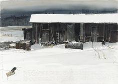 Watercolor by Lars Lerin -Forshyttan