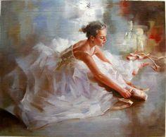bailarina de pintura impresionista bailarina de ballet de la pintura ...