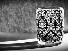 1 set of 15 Dandy Damask print votive candle wraps by DamaskDiva, $9.50