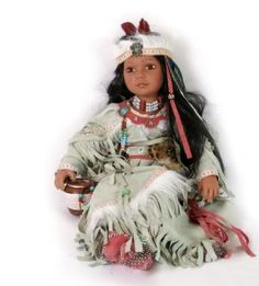 Native American Doll in White