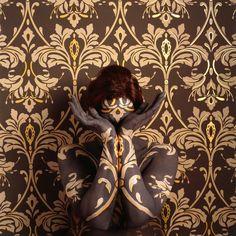 Art Nouveau, 2009 Cecilia Paredes Disappears Into Wallpaper