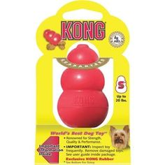 Kong Company Small Red Kong Dog Toy T3M Unit: Each