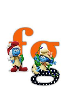 S.T.R.U.M.F.: Litere cu strumfi 2 Math For Kids, Alphabet Letters, Smurfs, Numbers, Cartoon, Blog, Fictional Characters, Manualidades, Letters Of Alphabet