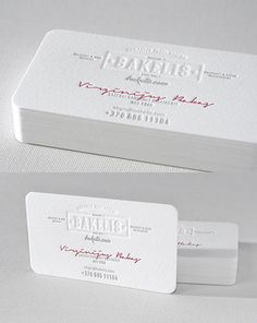 Vintage Styling Meets Modern Minimalism On An Award Winning White Business Card