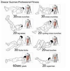 Rutina de abdominales fáciles de hacer.