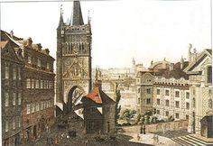 Old Town Bridge Tower Prague Photos, Czech Republic, Old Town, Old Photos, Barcelona Cathedral, Big Ben, Folk Art, 19th Century, Tower