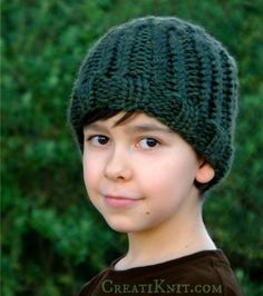 The Greenwood Boy Beanie Knitting Pattern
