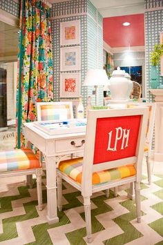Monogram chair, would be cute with Alpha Sigma Alpha letters.