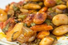 A traditional Greek recipe for Butter Beans with a modern twist and a trip to Presses Lake in Northern Greece where the giant butter beans come from Cookbook Recipes, Dessert Recipes, Cooking Recipes, Vegetarian Recipes, Healthy Recipes, Butter Beans, Greek Recipes, Greek Meals, Butter Recipe
