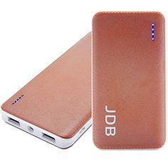 Introducing Power Bank JDB 10000mAh Portable Fast Charging Dual USB Charger 21A  1A External Mobile Battery Charger Pack for iPhone 6 Plus65S54S iPad iPod Samsung Galaxy Cell Phones Tablets Brown10000mAh. Great Product and follow us to get more updates!