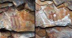 La pintura rupestre encontrada hace 41 años en la cueva de Los Escolares de Santa Elena (Jaén), declarada patrimonio de la humanidad como parte del arte rupestre del arco mediterrá
