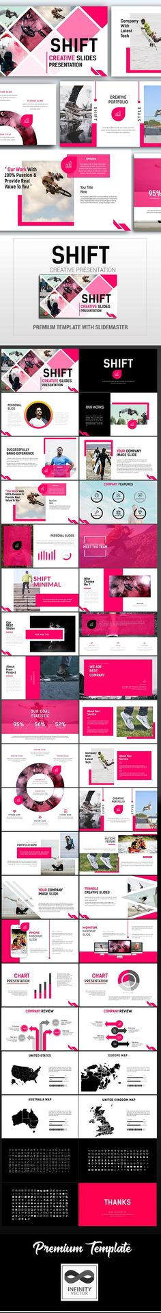 Shift Creative Presentation — Powerpoint PPT #slides #powerpoint template • Available here ➝ https://graphicriver.net/item/shift-creative-presentation/20966410?ref=pxcr