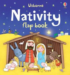 Nativity Flap Book - Usborne Flap Books (Board book)