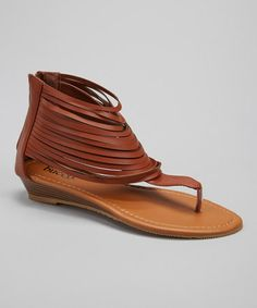 Cute summer sandals- Another great find on #zulily! Brown Westwood Sandal by Bucco #zulilyfinds