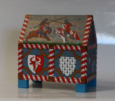 The Casket - first half the 14 century - the emblem of the owner and the tournament scene.
