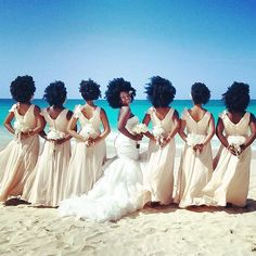 Pin for Later: These Photos Prove That Bridesmaid Dresses Can Actually Look Pretty Darn Cute The Bride and Bridesmaids Went Natural With Their Hair, but We Are Also in Love With Their Dresses