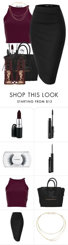 """night out"" by justice-ellis on Polyvore featuring MAC Cosmetics, Tiffany & Co., Gianvito Rossi and hedaj"