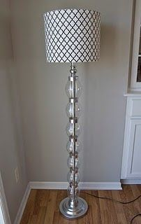 This lamp is amazing!!! Made from a basic black lamp, coke bottles, and duct tape! This blog is amazing - super creative!