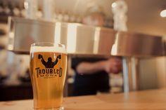 Amazing beer from Troubled Monk. Local craft brewery in Red Deer, Alberta Red Deer, Brewery, Road Trip, Cool Stuff, Craft, Amazing, Tableware, Places, Dinnerware