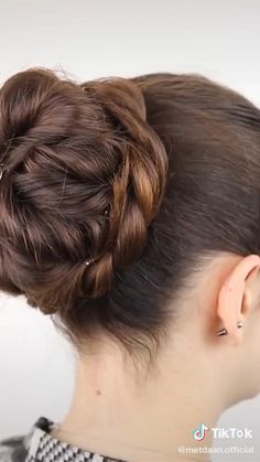 Undercut Long Hair, Bun Hairstyles For Long Hair, Undercut Hairstyles, Elegant Hairstyles, Braided Hairstyles, Hairstyles Videos, Straight Hairstyles, Wedding Hairstyles, Easy Braided Updo