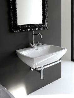 Jazz, design Meneghello Paolelli Associati. Lavabo sospeso / Suspended Washbasin # washbasin #bagno #design #bathroom #lavabo #artceram