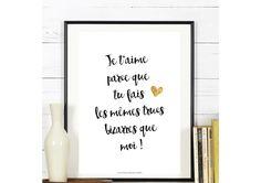 Déclarer votre amour avec des mots doux... Affiche Citation - Collection 'Déclaration' - a télécharger : Décorations murales par affiche-rgb4you