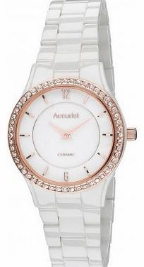 Accurist Ladies Crystal Set White Ceramic Bracelet Watch with Rose Gold LB1751W This clean bright ladies watch is from the gorgeous range by Accurist, it features a white dial with rose gold indicators and arabic numerals on the 12th and 6th hour and (Barcode EAN = 5033988025135) http://www.comparestoreprices.co.uk/ladies-watches/accurist-ladies-crystal-set-white-ceramic-bracelet-watch-with-rose-gold-lb1751w.asp