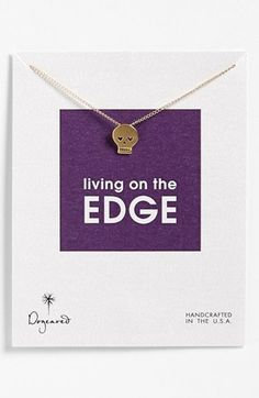 Dogeared 'Reminder - Living On the Edge' Boxed Pendant Necklace   Nordstrom
