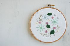 Embroidery Hoop 5 Flower Embroidery Floral by harperandfinch