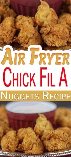 his Air Fryer Chicken Nuggets Recipe is one of the best chick fil a copycat recipe you will find. This chick fil a chicken recipe tastes just like the chick fil a chicken nuggets recipe from the restaurant, your family will be very pleased. Chick Fil A Chicken Nuggets Recipe, Chick Fil A Recipe Copycat, Chicken Nugget Recipes, Recipe Chicken, Fried Chicken Nuggets, Healthy Chicken Nuggets, Chicken Chick, Baked Chicken, Air Fryer Oven Recipes