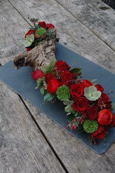 #afscheidsbloemen #rouwbloemen op stronk #bloemwerkopmaat #wageningen
