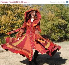 Autumn Fire Elf coat, sold