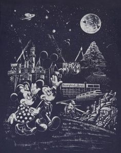 Mickey Mouse in space Disneyland t-shirt.