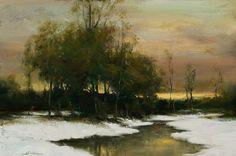 dennis sheehan paintings | Dennis Sheehan, Winter's Hush (Sold)