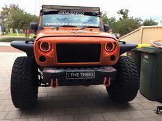 Orange headlights..want it! Jeep Jk, Jeep Wrangler, Orange Jeep, Jeep Camping, Monster Trucks, Events, Cars, Jeep Wranglers, Autos
