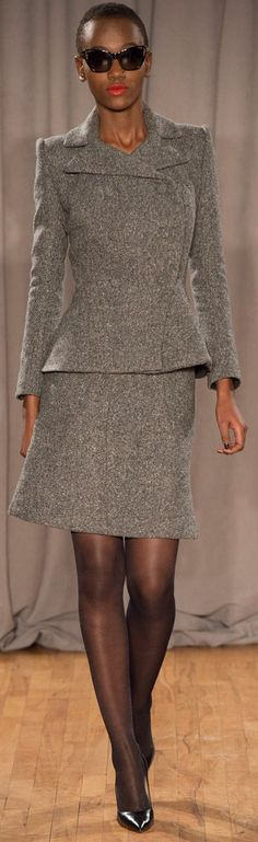 Zac Posen Fall 2014 RTW- I would add a hanbag and got an office look