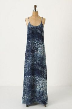 Anthropologie Cobalt-Splashed Maxi Dress by Partimi