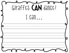 GIRAFFES CAN'T DANCE CRAFTIVITY PACK: A LESSON IN CHARACTER AND PERSEVERANCE - TeachersPayTeachers.com