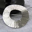 Radiant Silver Brooch