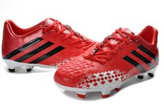 quality design 1544c a7084 Adidas Predator LZ 2013 TRX FG Boots - Red Black White New Soccer Shoes  2013