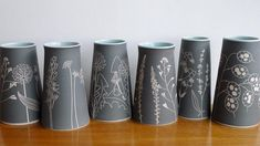 All of the plants on my pots grow wild in Scotland, some are regarded as wildflowers while others are classed as weeds and are often overlooked and unloved.....so here my beauties is your chance to shine! . #ceramics #stoneware #sgraffito #vase #vessel #wildflowers #weeds #madeinscotland #handmade #craft #handdrawn #whatalineup #overlookedandunloved #interiordesign #cremerging