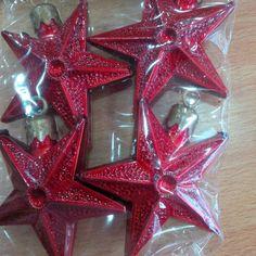 Estrellas Rojas x 4