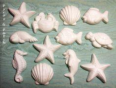 Set di gesso bianco 12 Mare in 8 a forma di di PyrosePatch su Etsy