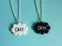 One- The fault in our stars Okay Necklace