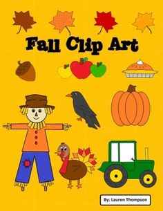 Fall Clip Art & Borders Use these cute images for your classroom or products you create!   -8 borders  -14 pictures in 3 formats each:  *jpeg  *png (transparent background)  *black & white line art