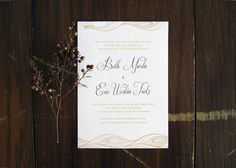 Neutral Travel-Themed Destination Wedding Invitations by BC Design via Oh So Beautiful Paper (5)