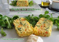 Pastís de verdures al microones.