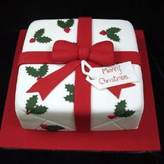 christmas cake design More